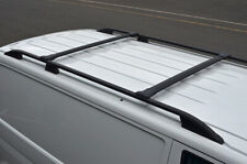 Black Cross Bar Rail Set To Fit Roof Side Bars To Fit Fiat Doblo (2010+)