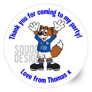 LCFC Filbert the Fox Printed Round Stickers - Custom Craft Labels - Personalised