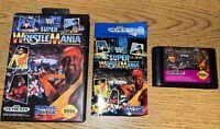 WWF Super WrestleMania (Sega Genesis, 1992) Complete  CIB - US Seller