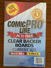 More details for clear current comic book backing boards. ultra-thick (60pt) ***free postage***