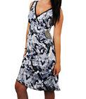 Women's Sexy Brand New Abstract Print Black Grey White Dress Size 8 - 16