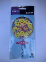 18'' Happy Birthday Emoji Mylar Balloons Smile Faces Emotions Party Decor