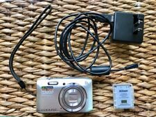 Nikon COOLPIX S3600 Silver Camera 8x Zoom 2 Rechargeable Batteries & Memory card