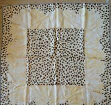Christian Dior Vintage silk scarf  Leopard/flower print 34x34in