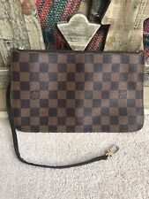 LOUIS VUITTON Neverfull MM Damier ebene cherry red POUCH only 100% auth!