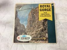 OPEN Stereo Pictures Royal Gorge & Central Colorado Lowell Thomas (A323) 3 Reels