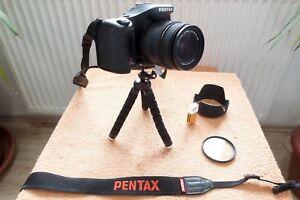 Pentax K100D * 18-50mm Objektiv * F NEU + EXTRAS   DSLR Spiegelreflex Kamera