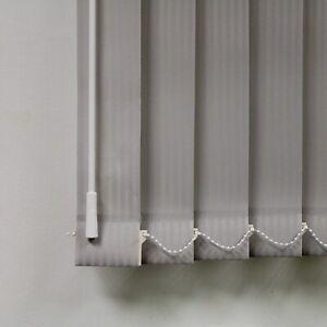 "KINGHAM PLATINUM (Light Grey) VERTICAL BLIND SLATS REPLACEMENT  89mm (3.5"") WIDE"