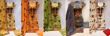 New Indian Salwar Kameez Loose Unstitch Dress Material Punjabi Suit Silk Sale