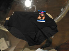 Maidenform Microfiber Hipster Size XL Solid Black and Brown sides Womens Panties