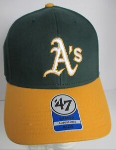 Oakland A's Athletics Kids Hat MLB aprox age 4>6 47 Brand Embroidered Cap