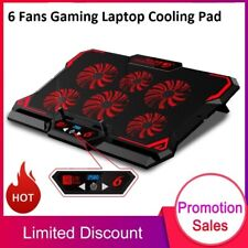 Gaming Laptop Cooling Pad 6 Fan LED Screen 2USB Port 2600RPM Laptop Cooler Stand