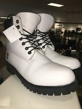 Timberland Pro Helcor Men's White Leather Boots Size 12M Waterproof