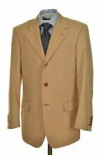 PAUL STUART by ISAIA Beige Woven 100% Cotton Jacket Pants SUIT Mens - 40 R
