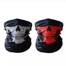 2 Skeleton Ghost Skull Face Mask Biker Balaclava Costume Game