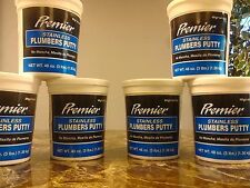 Premier Stainless Putty 3 Lb PREMIER Plumbers Putty 441054 076335410548 lot of 6