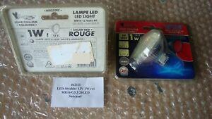 2 Stück LED Strahler ROT 12V 1W MR16 GU5,3