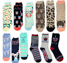 Ankle-High Animal Print Machine Washable 2-3 Socks for Women