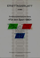 """Berlin MiNr 621-623 ETB 4-80 """"Sporthilfe 1980"""" Wasserball-Mannschaftssport u.a."""