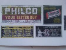 N SCALE WEATHERED ADVERTISING SIGNS