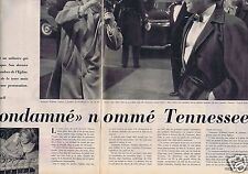 Coupure de presse Clipping 1957 Tennessee Williams (4 pages)