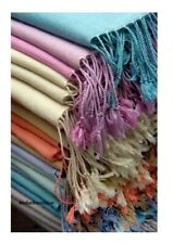 100% Turkish Cotton Pashmina Scarf Shawl Wrap Throw Super Soft Luxury