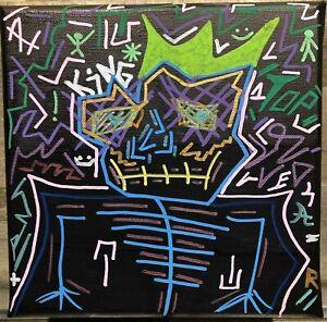 """Marc Lohraw - Technique De Mixte Sur Tela - 20x20 - """" Top King """" - Agréé"""