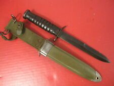 WWII US Army/USMC M3 Trench Fighting Knife Guard Marked: CASE w/M8A1 Scabbard