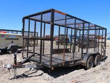 2019 Centex 6x16 16' Tandem Axle Trash Refuse Utility Trailer Swing Gate bidadoo