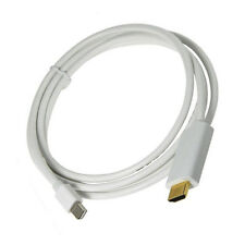 6Ft White Mini DisplayPort Thunderbolt to HDMI Cable 1080p Full HD