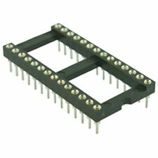 Turned Pin DIL IC Socket 15.24mm 28 Pin (Pack of 2)