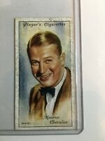 F66918 1934 Maurice Chevalier #10 Player's Cigarette Film Stars Vintage Card