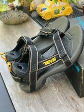 TEVA Sport Outdoor Sandals Black Gray 4141 BLK Hiking Mens Size US 8 / EU 40.5