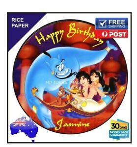 Aladdin Jasmine Edible RICE Image Cake Topper Birthday Decoration Round 19cm
