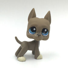 Littlest Pet Shop dog GREAT DANE LPS toy kids action Figure gray puppy