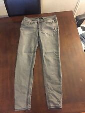 Women's Grey Skinny Jeans Stretchy size 9; Rampage; Pre-owned