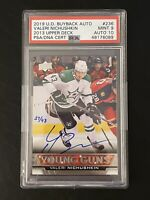 2019 Valeri Nichushkin PSA 9 AUTO #27/43 YOUNG GUNS BUYBACKS RC DNA 10 ROOKIE