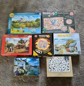 Selection Of 7 Jigsaw Puzzles 1000 & 500 Pieces ( All Complete )