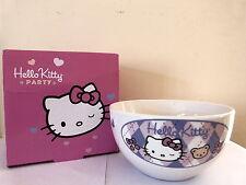 Hello Kitty Tazon Bol Desayuno Cereales de Ceramica en Caja (precintado)
