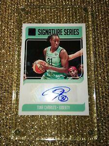 Tina Charles New York Liberty WNBA 2019 Press Proof Purple Signature Series /99