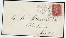 More details for sg43  1d red  ib  plate 80 oxford union society overprint cat £200 on cover