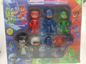 PJ Masks Action Figurines Catboy Owelette Gekko Romeo Luna Night Ninja 8-9cm PVC