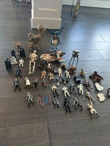 Vintage Star Wars Lot Figures Weapons Great Collection Kenner