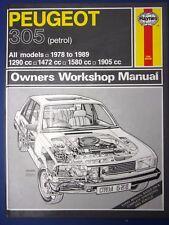 Haynes Owners Workshop Manual Peugeot 305 petrol 1978 to 1989 (1712)