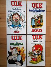 Ulk Nr.3, 7, 8, 9 von 1978 - Konvolut TOP Z1 CARTOON COMIC-Taschenbücher Nelson