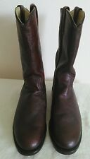 New DAN POST Women's Burgundy leather Western/Roper/Riding Boots Size 7.5 M