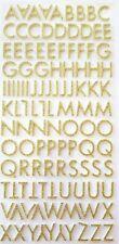 110 Gold Glitter Adesivi Lettera-schiuma lettere maiuscole-Alfabeto-A-Z - maiuscole