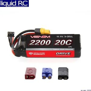 Venom Racing 1577 20c 3s 2200mah 11.1v LiPo Soft Case W/ Universal Plug