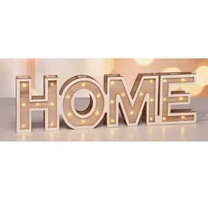 """LED-Deko Leucht-Dekoration Schriftzug Dekoleuchte """"HOME"""" mit 28 warm-weißen LEDs"""