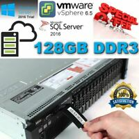 2x{ Dell PowerEdge R720 Xeon E5-2630 128GB DDR3 4x 600GB 10K SAS H710P 2.80Ghz }